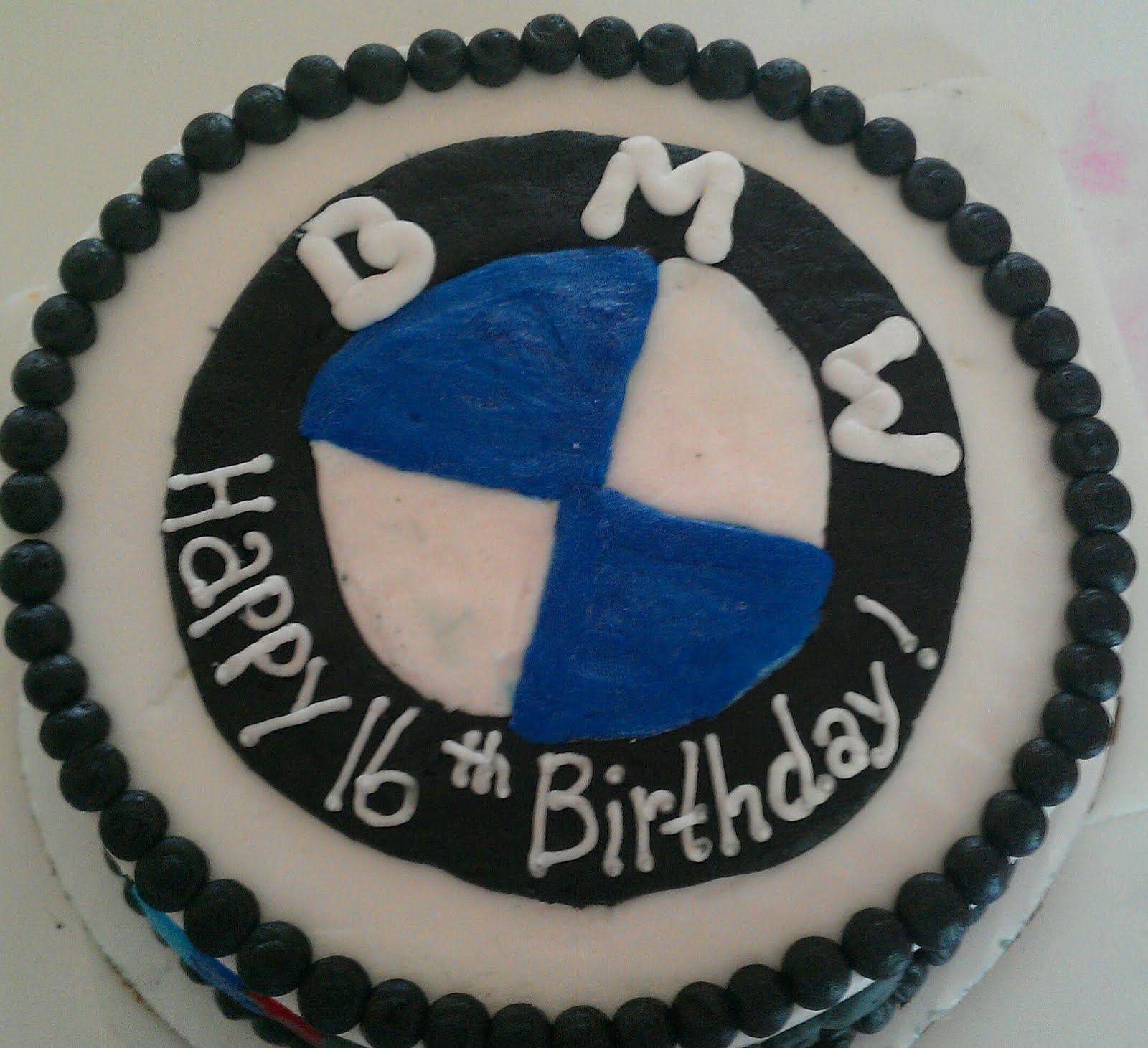 Remarkable 16Th Birthday Cake Boys 16Th Birthday Bmw Cake 16 Birthday Funny Birthday Cards Online Amentibdeldamsfinfo