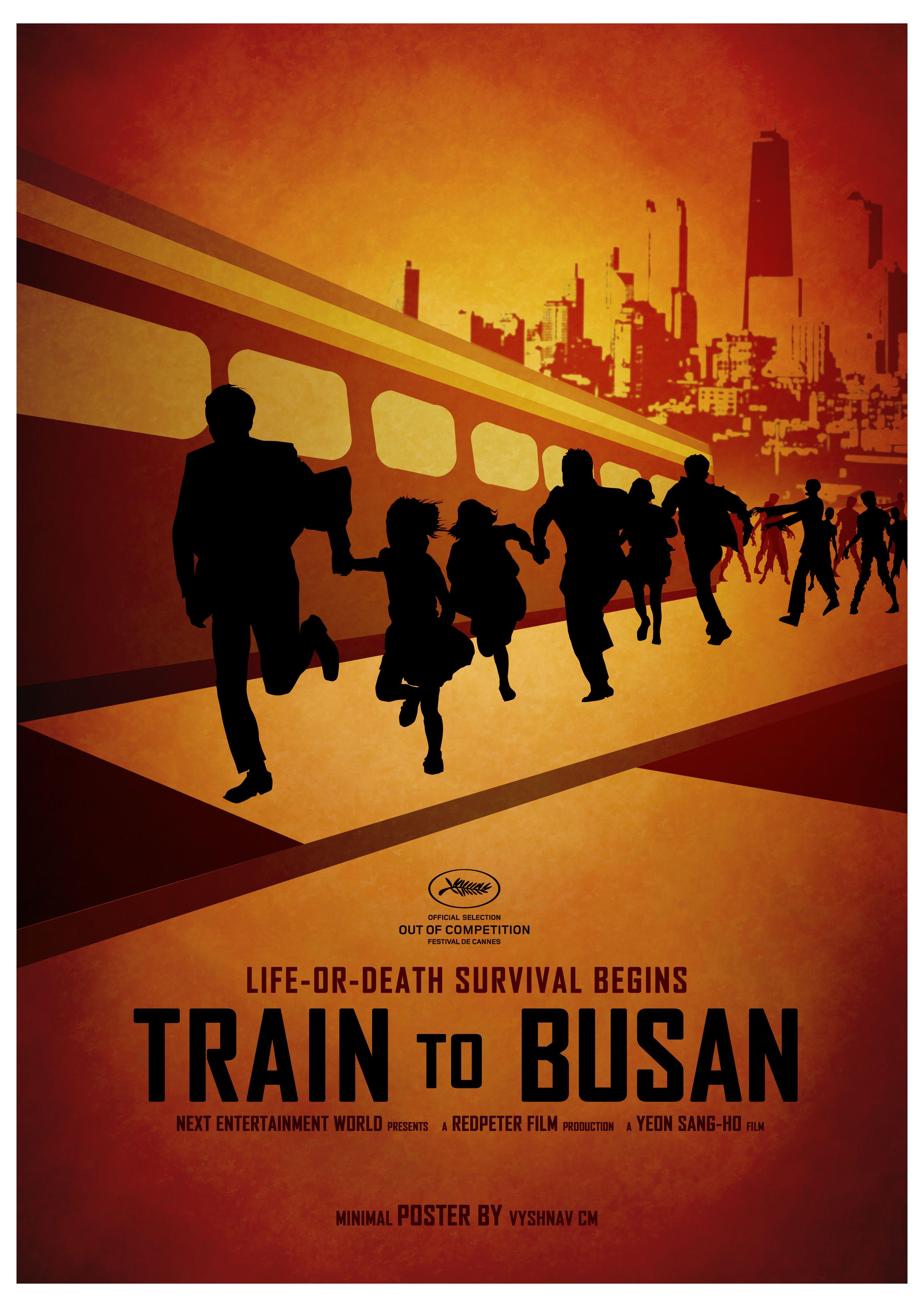 Train To Busan Minimal Poster Design Designed By Vyshnav Cm