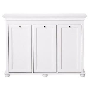 Home Decorators Collection Hampton Harbor 37 In Triple Tilt Out Hamper In White Bf 20939 Wh With Images Tilt Out Hamper White Laundry Hamper Laundry Hamper