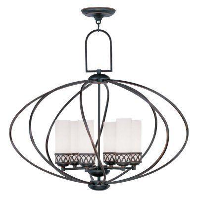 Livex Westfield 4726-67 6-Light Chandelier in Olde Bronze - 4726-67