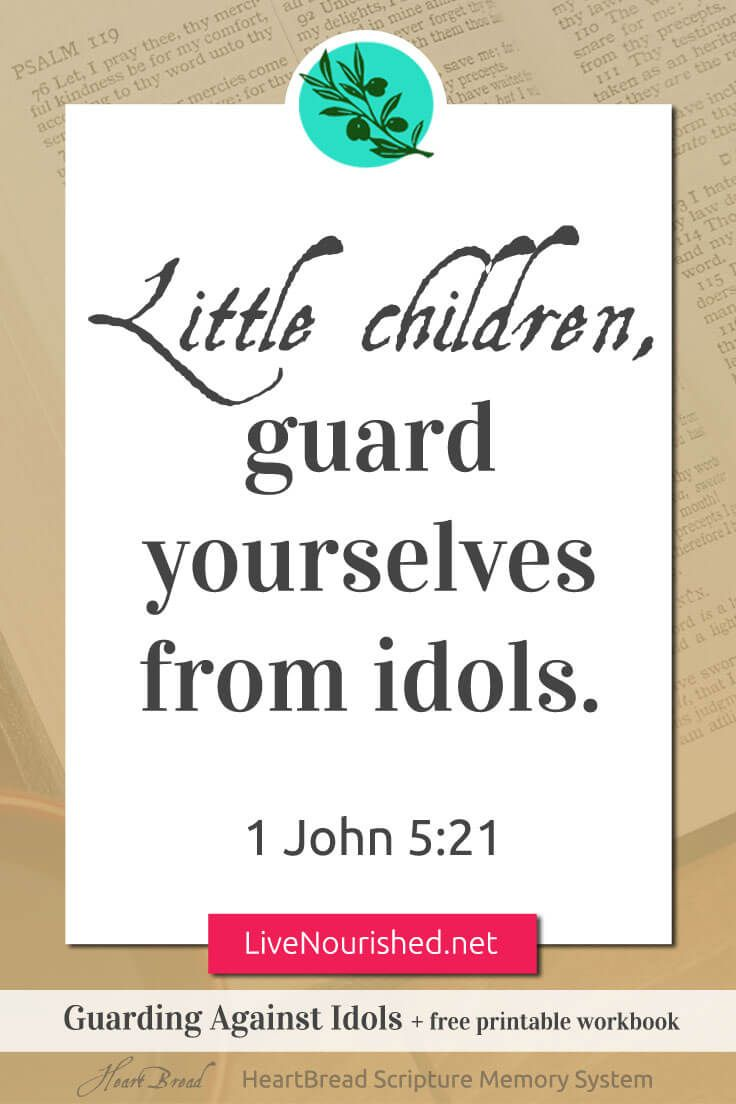Workbooks workbook live : Guarding Against Idols + free printable workbook {HeartBread ...