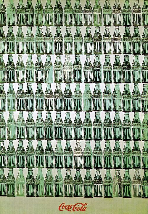 Andy Warhol , green coca cola bottles 1962