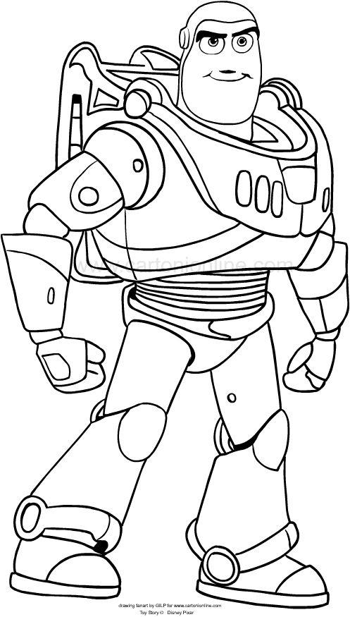 Dibujo de Buzz Lightyear de Toy Story 4 para colorear en ...