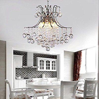 ALFRED Moderne Kristall-Kronleuchter mit 6 Leuchten, Modern - deckenleuchte schlafzimmer modern