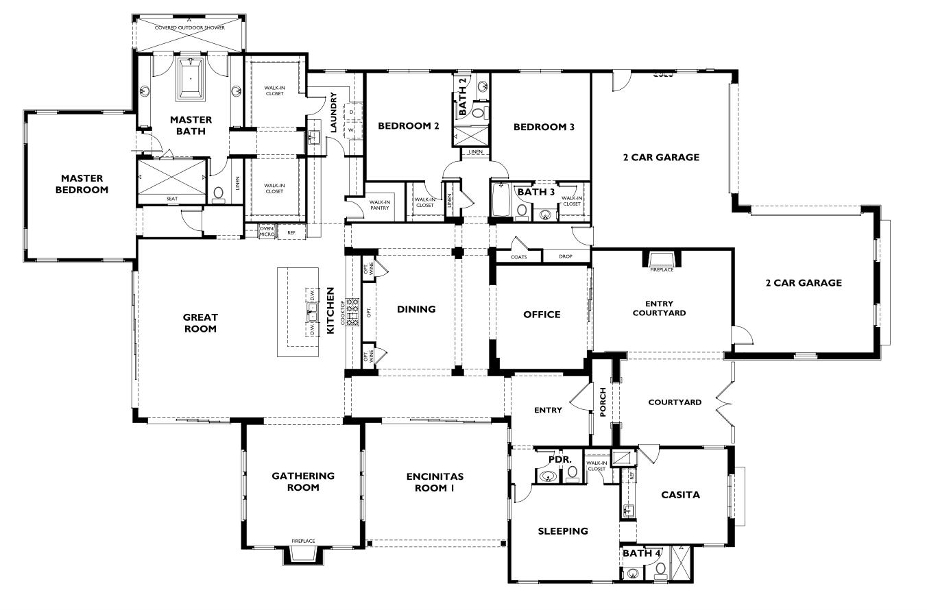 Shea Homes One Oak 5 | f l o o r p l a n s | How to plan ... on 3 bed 3 bath floor plans, 5 bed 3 bath floor plans, 6 bed 3 bath floor plans, 2 bed 1 bath floor plans, bathroom floor plans, 4 bedroom home floor plans,