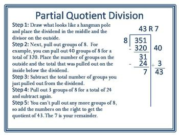 Partial Quotient Division PosterThis Partial Quotient Division ...