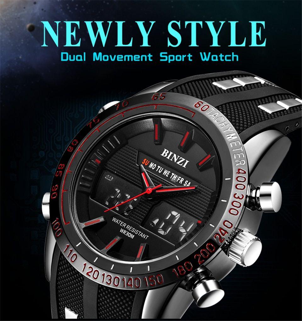 Men Sports Watch 2018 Top Brand Luxury Relogio Masculino Men Military Wristwatch Chrono Waterproof Wrist Watch Meskie Male Clock