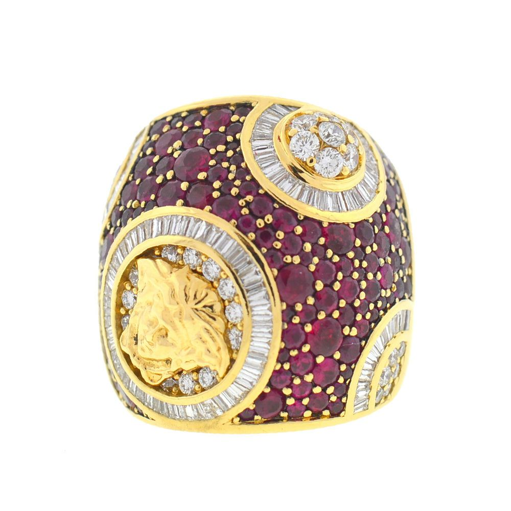 Details about k yellow gold versace medusa ruby diamond muse