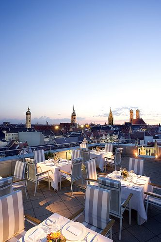 Le Cafe At Mandarin Oriental Munich One Of European Top Ten Rooftop Bars Best Rooftop Bars Munich Travel Outdoor Restaurant