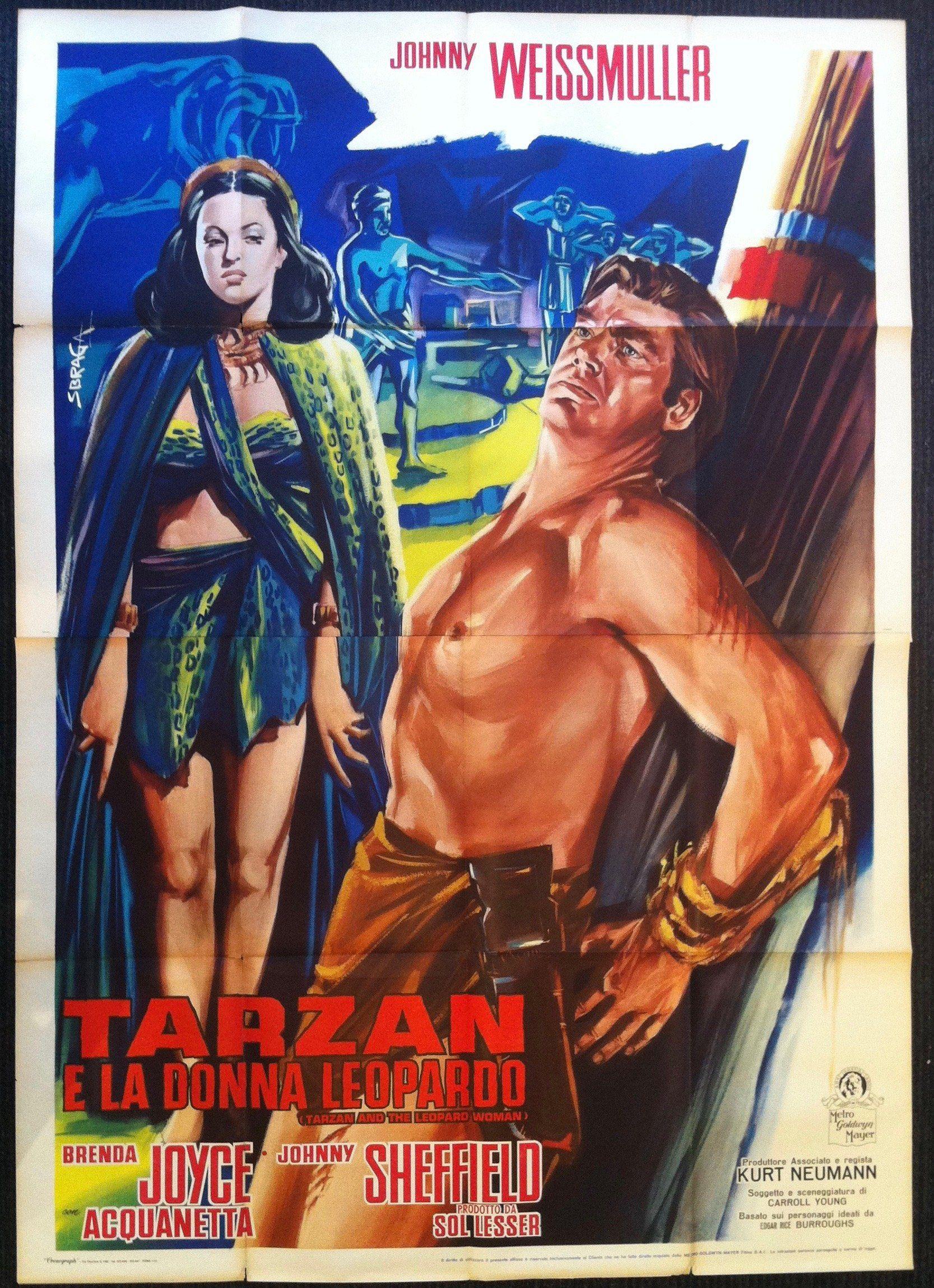 Photo of Tarzan E La Donna Leopardo – 55×78 / Italy, C. 1945