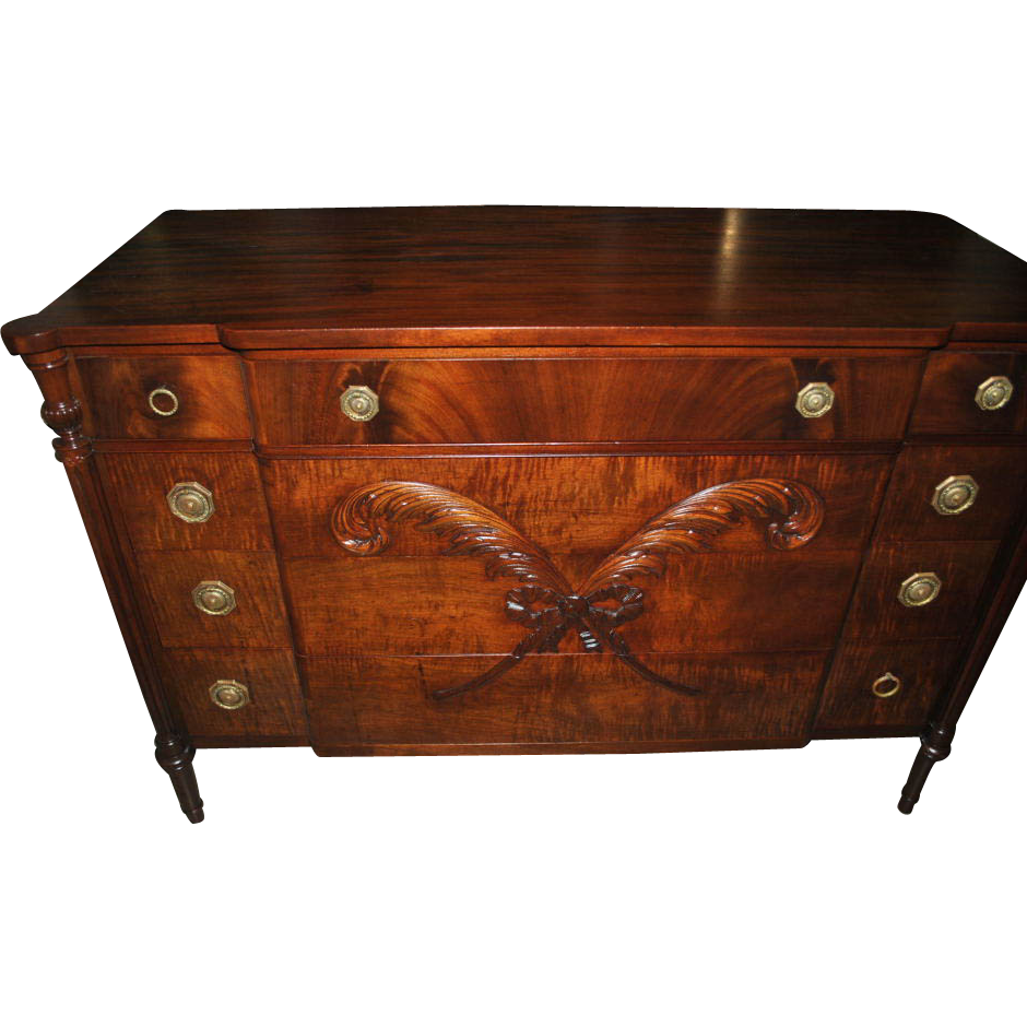 Vanleigh Furniture Of Ny Federal Style Mahogany Dresser