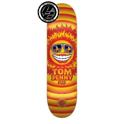 Flip Penny Sun P2 Skateboard Deck, color: Assorted, category/department: skate-decks