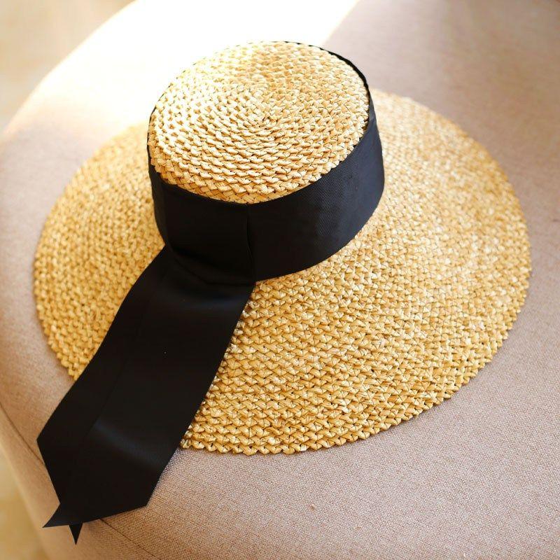 AYLSON Elegant Style Summer Large Brim Straw Hat Adult Women Girls Fashion Sun  Hat uv Protect af6058869714