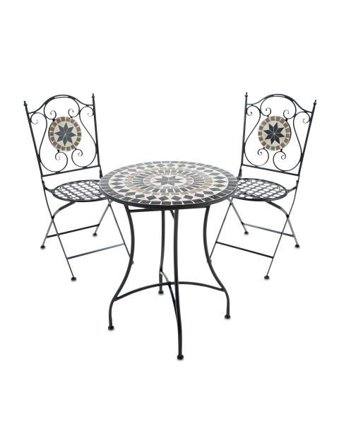 Enjoyable Gardenline Beige Mosaic Bistro Set Gardening Bistro Set Gmtry Best Dining Table And Chair Ideas Images Gmtryco