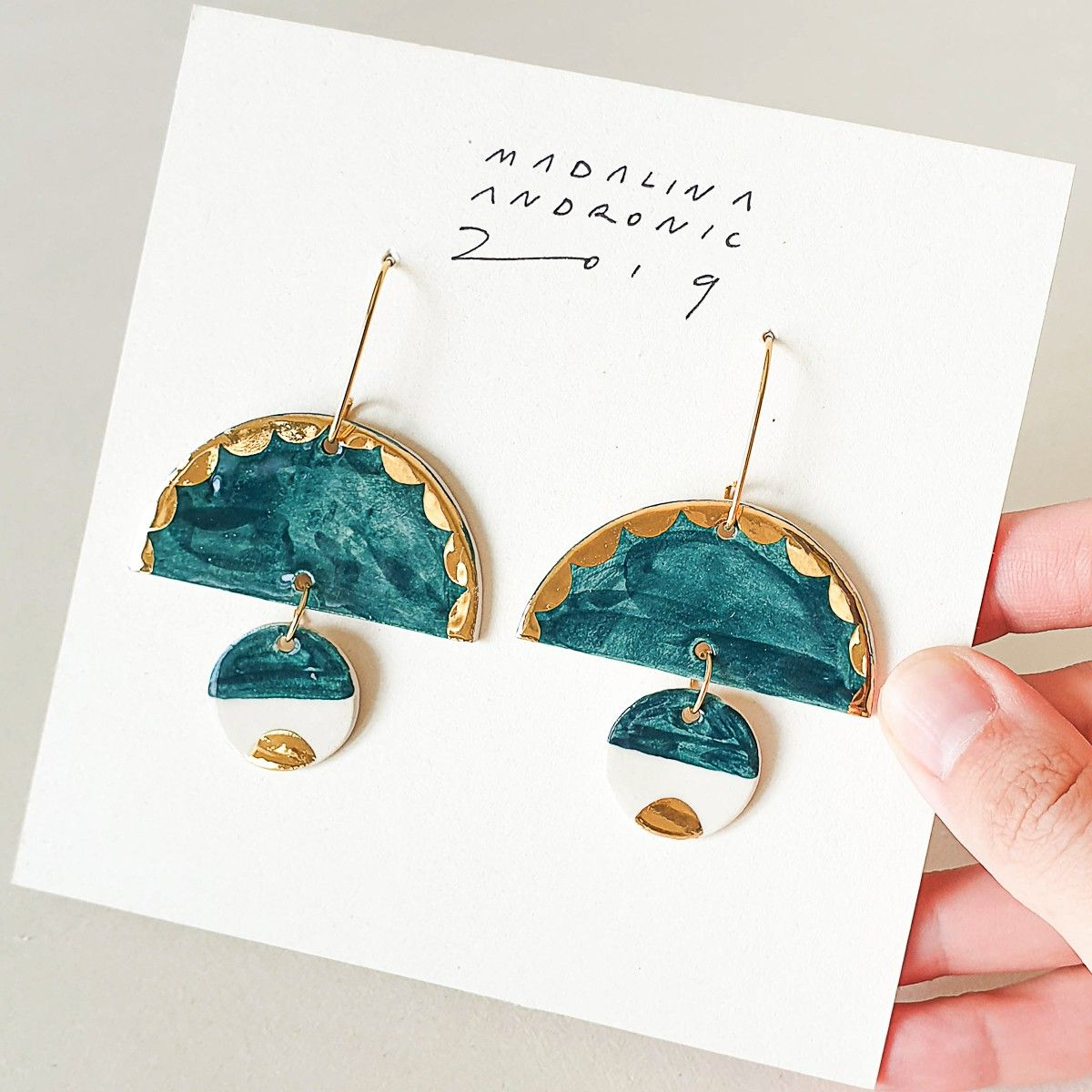 ELOISE porcelain earrings