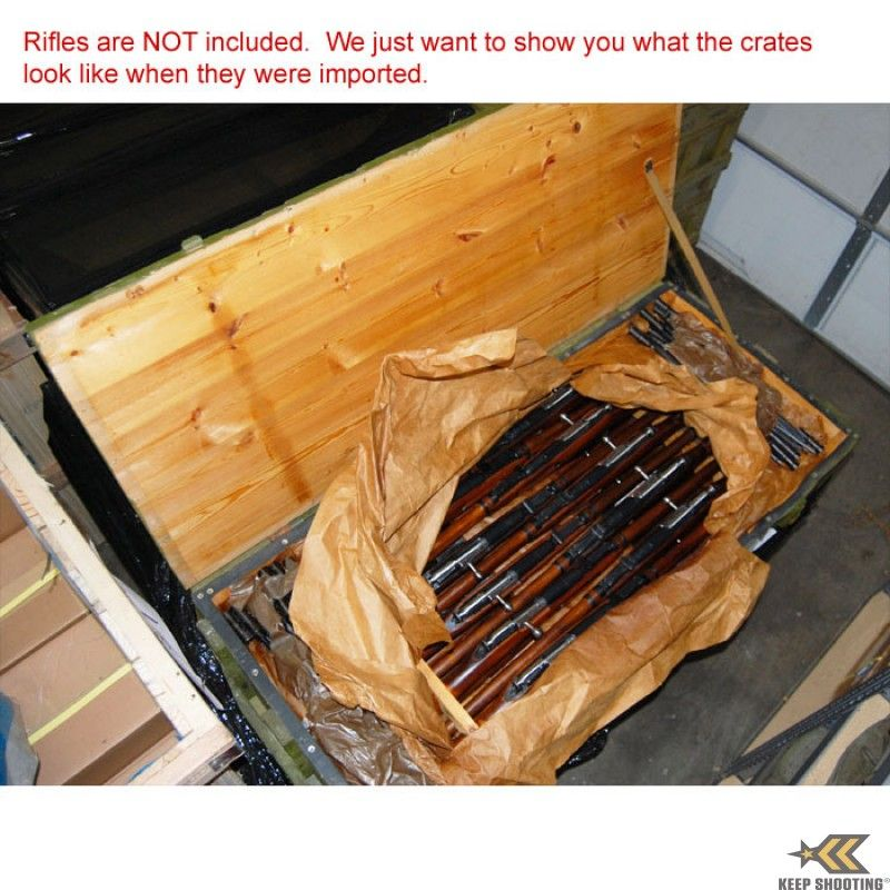 Mosin Nagant Rifle Crate - With Rifles