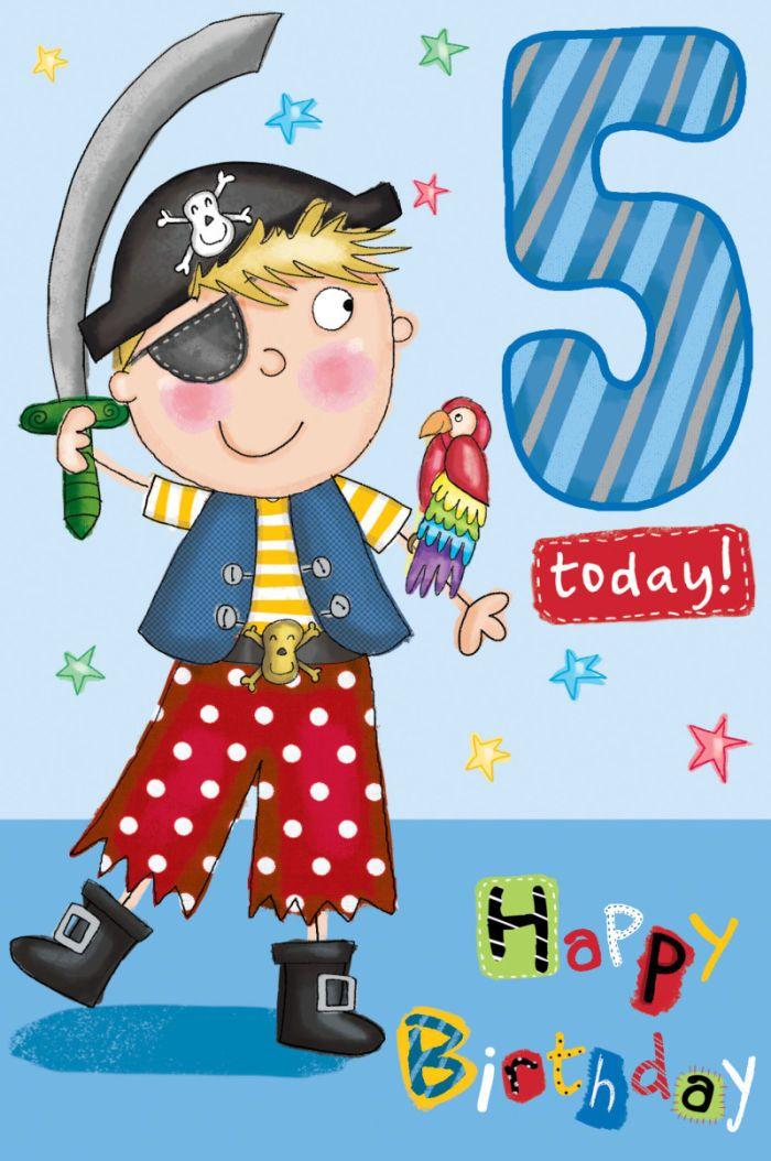 Helen Poole Gc35019 Boy 5 Pirate Card Jpg Birthday Pinterest Happy Birthday Wishes 5 Year Boy