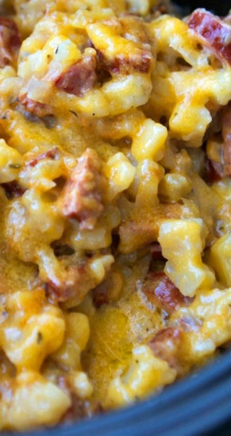 Crockpot Smoked Sausage and Hash Brown Casserole Recipe