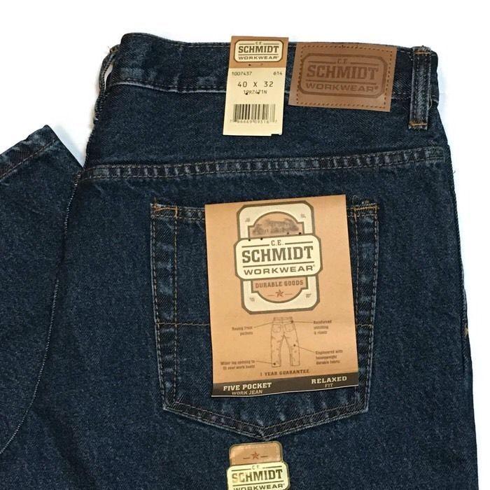 65d88d2d Schmidt Jeans 40 x 34 Relaxed Fit Workwear 5 Pocket Jeans NEW #Schmidt  #Relaxed