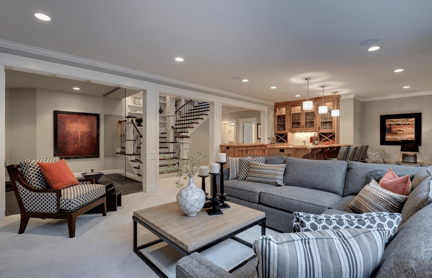 Basement Living Rooms, How To Design A Basement Family Room