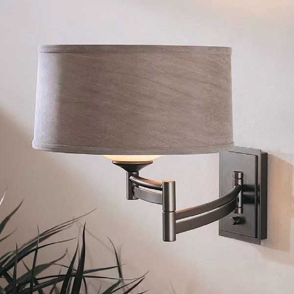 Hubbardton Forge New Town Sconce: Hubbardton Forge 20-9310 Forged Bar Swing-Arm Wall Sconce