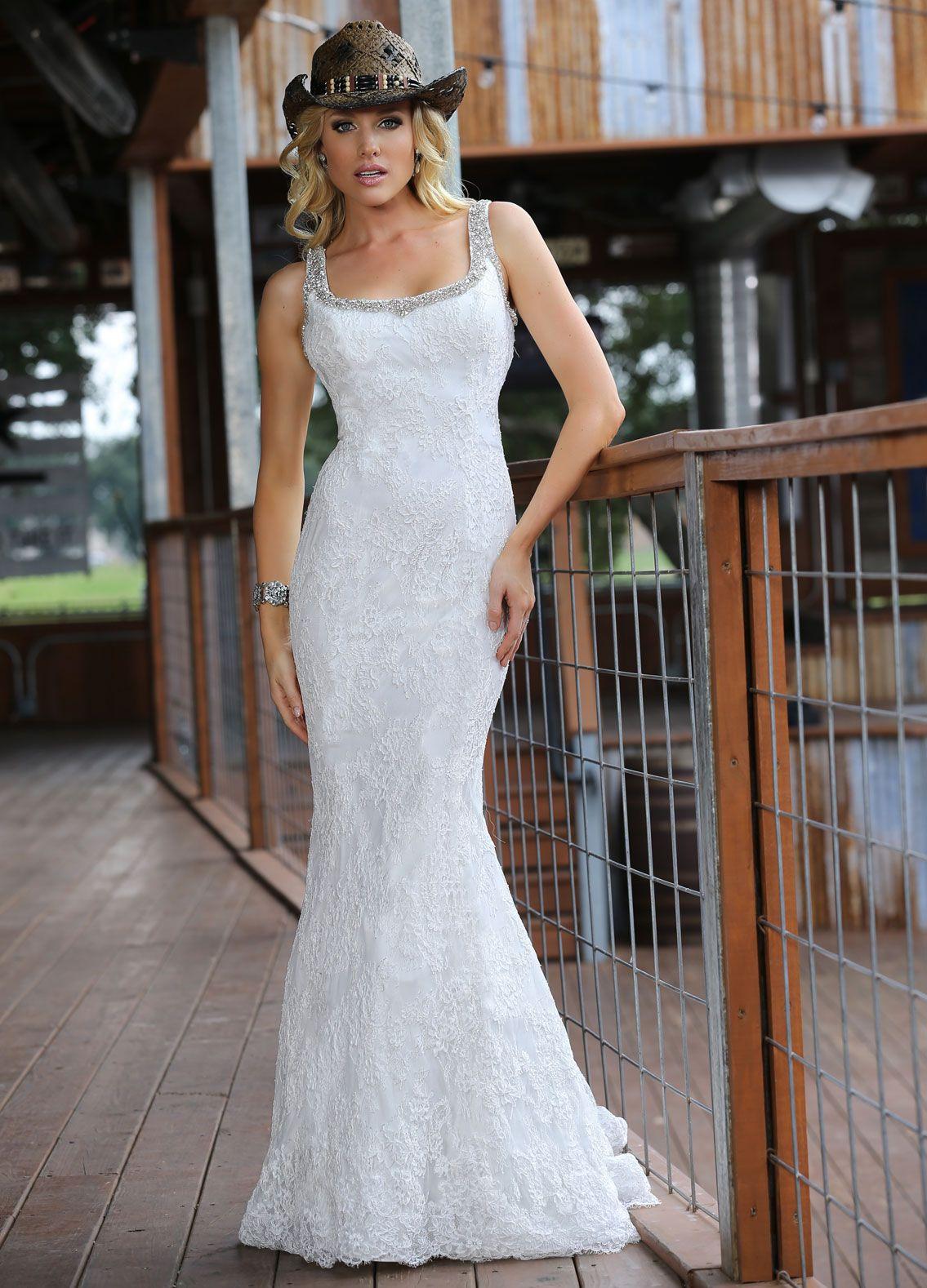 White mermaid wedding dress  Wishesbridal Backless Spaghetti Straps Lace Trumpet Mermaid
