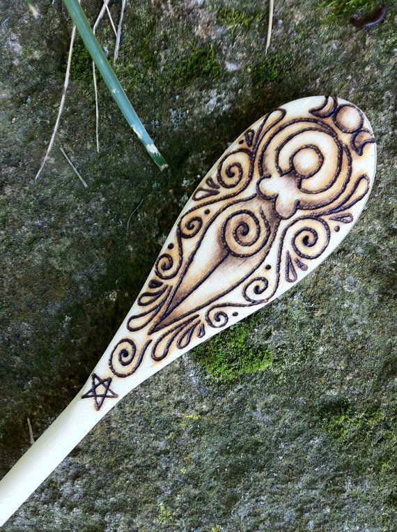 Spiral Goddess Single Spoon by GreenwoodCreations13 on Etsy, $18.00