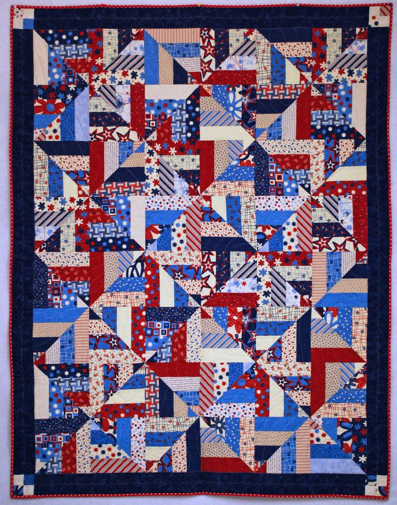 American Wave Flag Pattern Quilts with a Twist DIY Quilt Pattern 2 sizes