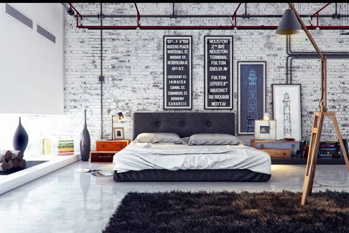 Pin By Ferme A Papier By Cat Seto On My Kind Of Rural Chic Industrial Bedroom Design Industrial Style Bedroom Bedroom Interior