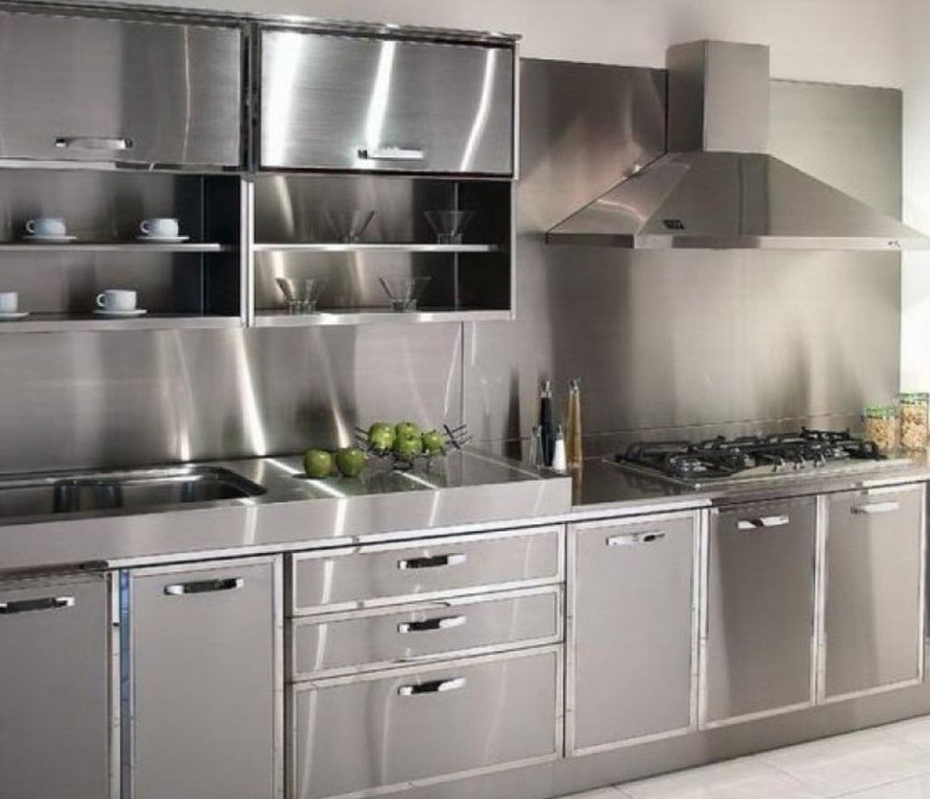 Nice 45 Modern Stainless Steel Kitchen Cabinet Design For ...