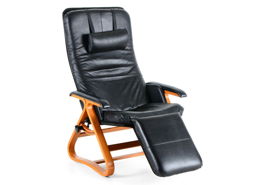 Backsaver Black Leather Signature Zero Gravity Recliner Chair Recliner Chair Zero Gravity Recliner Black Leather