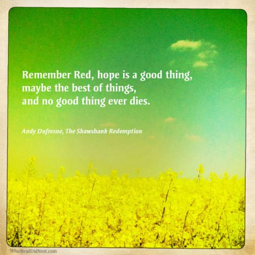 Amazing Quote From Shawshank Redemption Best Movie Quotes Essay Hope