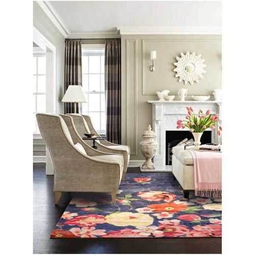 Hammerfest Hand-Tufted Pink/Blue Area Rug In 2019
