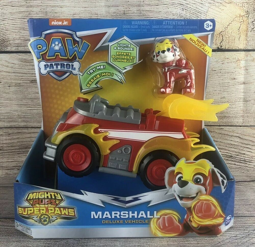 Paw Patrol Mighty Pups Super Paws Marshall Figure Amp Deluxe