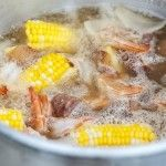 Here are tips on how to throw a seafood boil party or crawfish boil party. Includes tips on equipment & an Easy Seafood Boil with Corn and Potatoes recipe! #seafoodboil