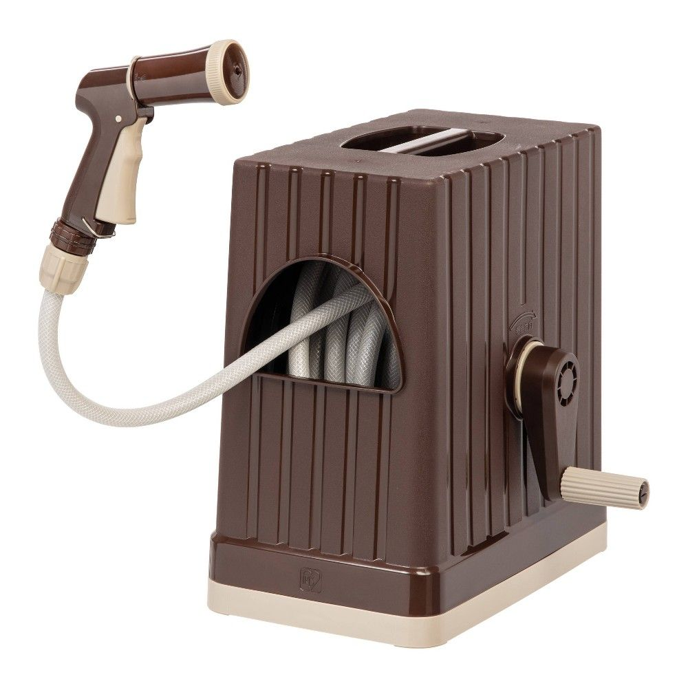 Iris 66ft Hose Reel With Nozzle Brown Hose Reel Nozzle Hose
