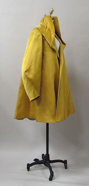 Evening coat Charles James  (American, born Great Britain, 1906–1978) Date: 1947 Culture: American Medium: silk. Sideway