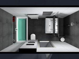 bad en douche in kleine badkamer - Google zoeken - Badkamer ...