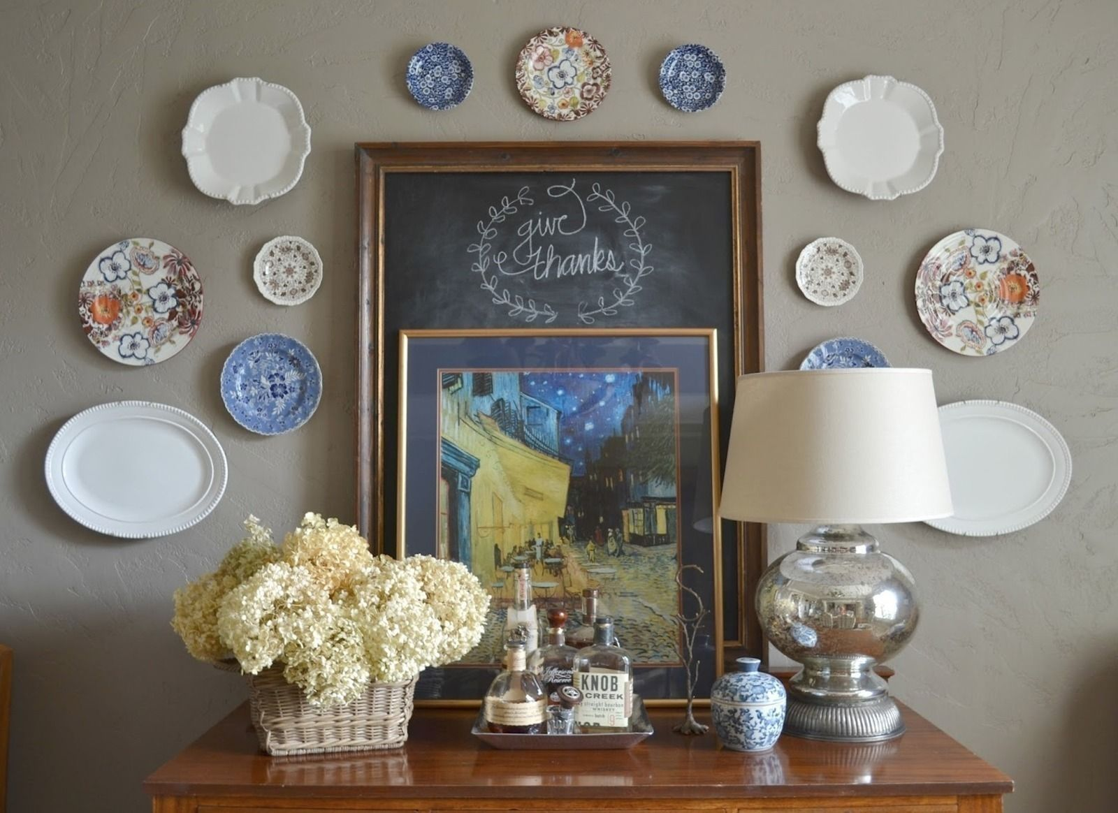 Ever wondered how to hang plates on a wall without those for What to hang on dining room walls