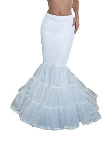 Dobelove Women\'s Mermaid Fishtail Hoop Bridal Wedding Petticoat ...
