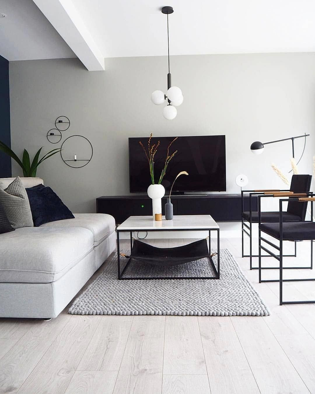 Decorate Your Living Room With These 14 Inspiring Wall Ideas Monotone Home Theme Modernliving Monochrome Living Room Minimalist Living Room Living Room Grey
