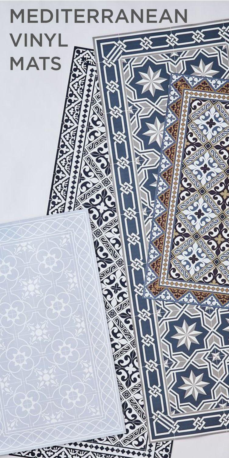 Mediterranean vinyl mats our home in 2019 vinyl rug