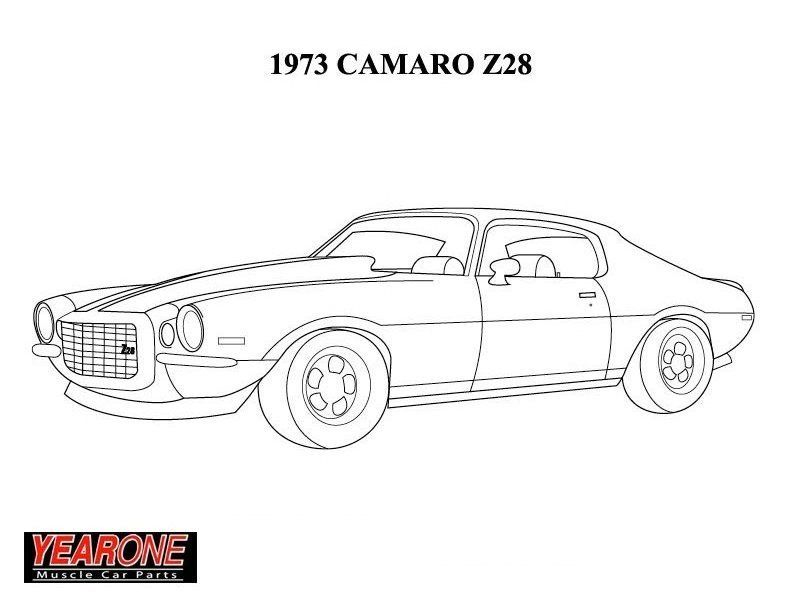 Camaro Z28 Coloring Pages Coloring