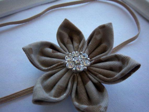 Army ACU Fabric Flower Headband