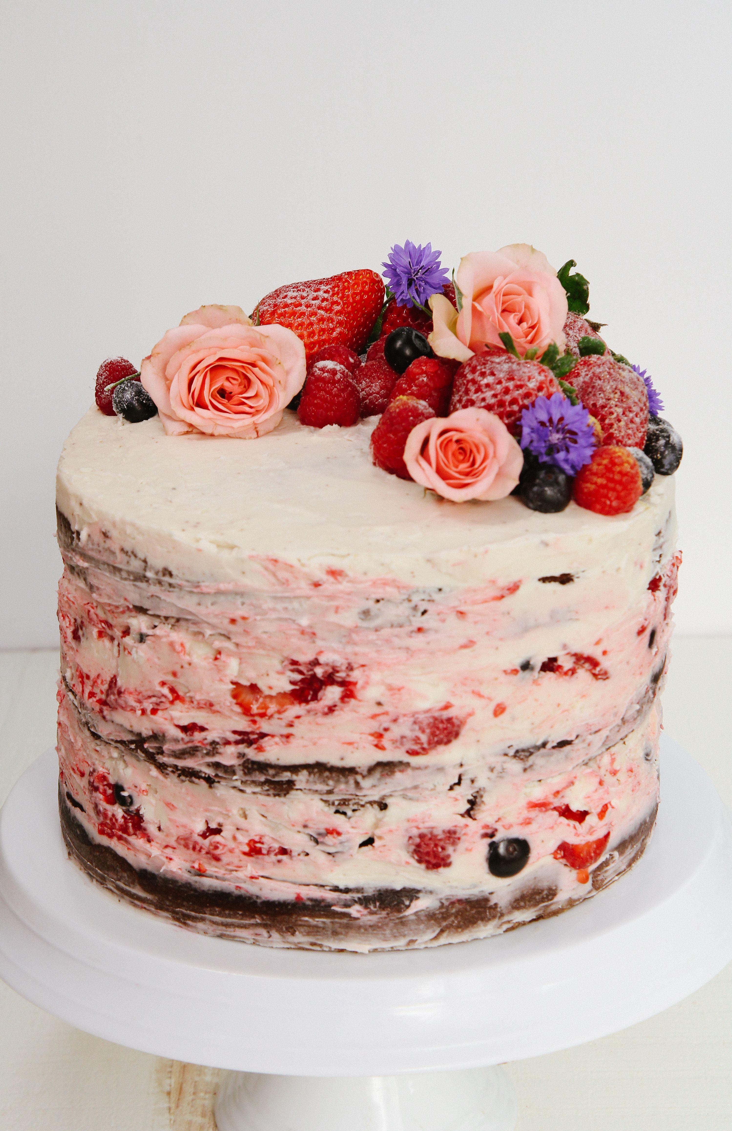 3 Layer Chocolate Almond Birthday Cake A Rich Fluffy Legit Paleo