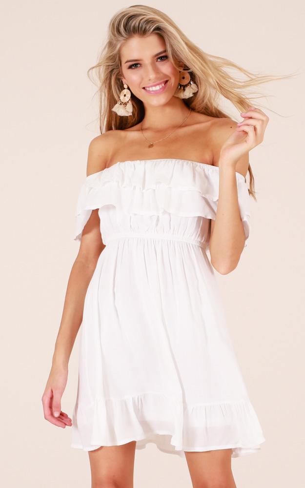 Lavish Love Dress In White Produced
