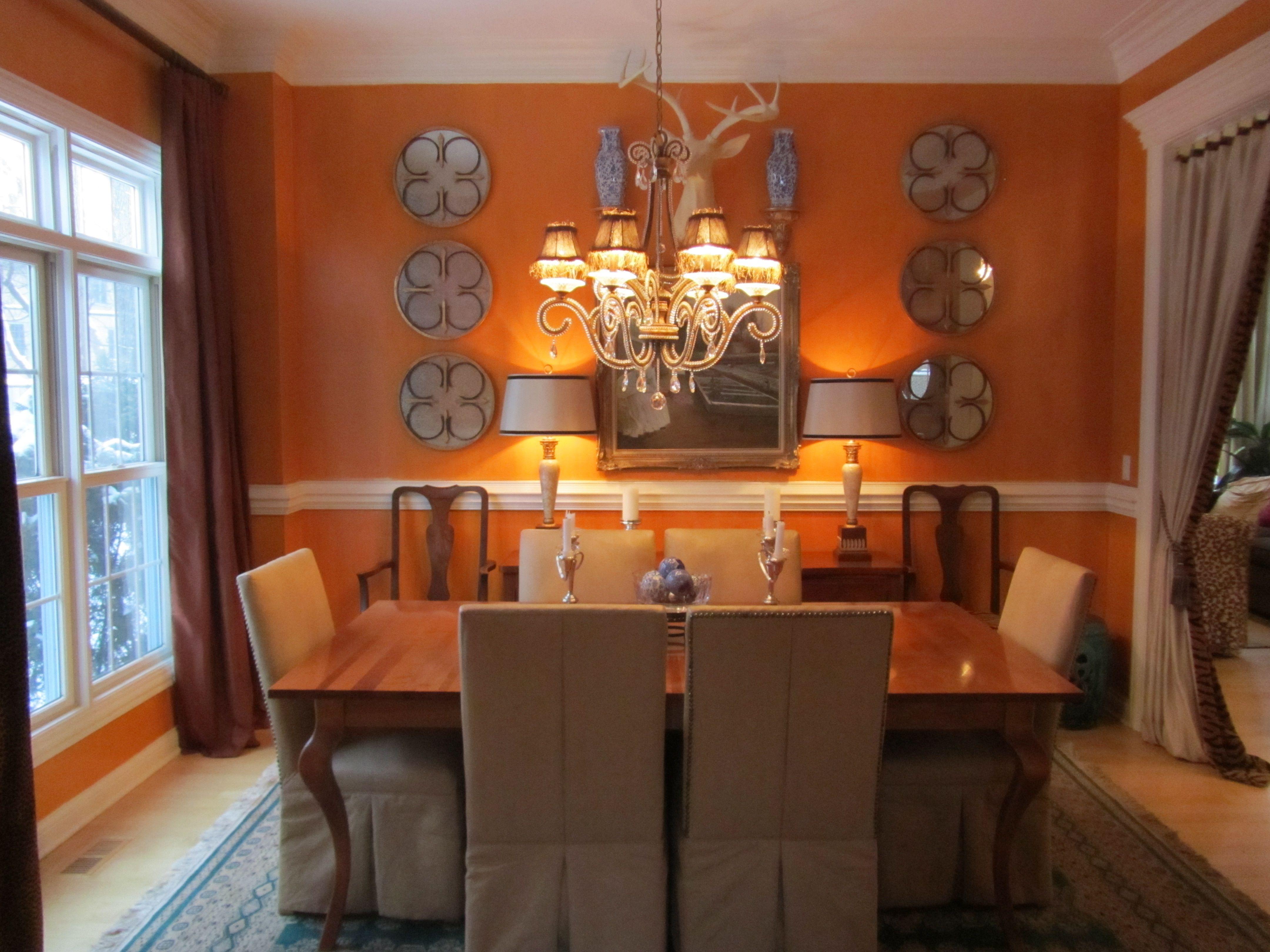 Burnt Orange Dining Room Orange Dining Room Decorating Pinterest