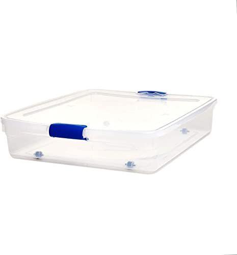 New Homz Plastic Underbed Storage, Stackable Storage Bins ...