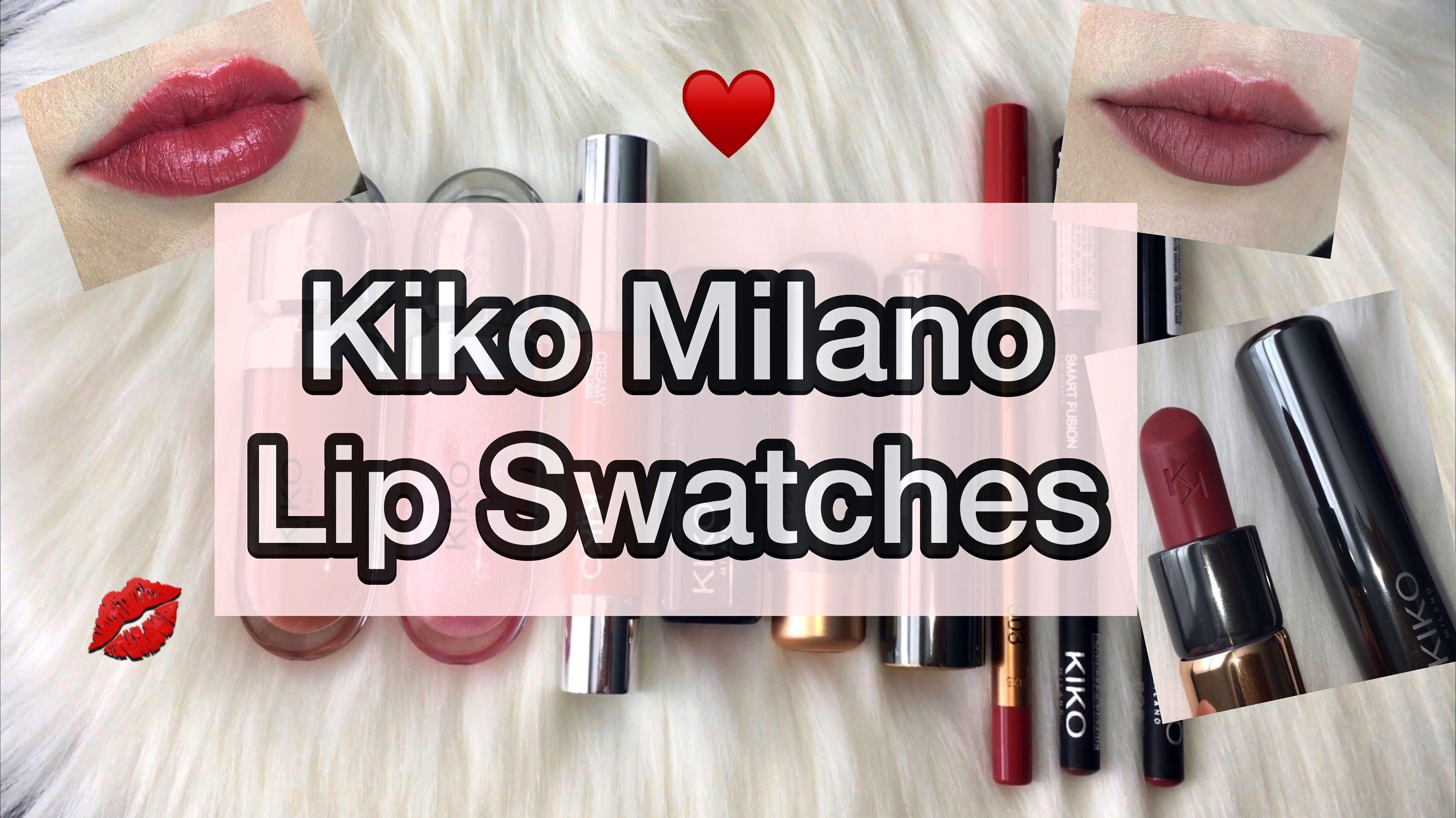 Kiko Milano Lip Swatches Kiko Milano Lip Swatches Kiko