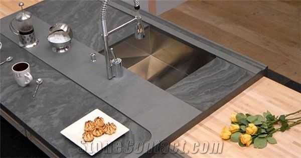 Brazil Grey Slate Kitchen Countertop Kitchen Pinterest Slate Kitchen Slate And Countertop